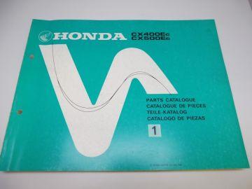 New partbook Honda CX400 EC - CX500 EC