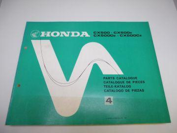 New partbook Honda CX500 Z-DZ-CZ