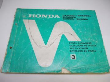 As new partbook Honda CX500 CA-DA-A