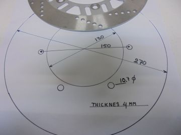 Disc,frontwh. 130-150 unifersal.(270)