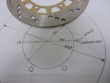 Disc,frontwh.universal 275mm 130-150 thick 4mm