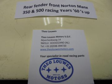 Fender rear front Norton Manx 350 & 500 racing '60 up