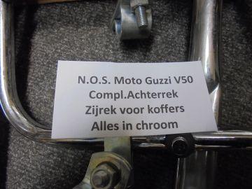 Moto Guzzi V50 bagage rek + zij rek chroom