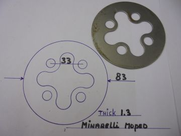 Plate clutch steel Minarelli very old model >>>NEW