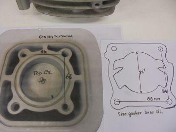 Cilinder assy bore(56mm) (Yamaha?)L/C motocross>>new
