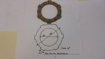 35.0122.0 Clutch plates(3)Min.P3/P4 & P6R moped