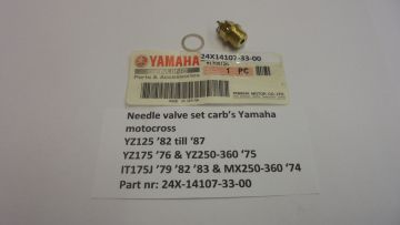 24X-14107-33-00 Needle valve set Yam.YZ125'82 to'87 & YZ250 new