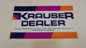 Emblem,KRAUSER DEALER size 30 cm x 16.5 cm new