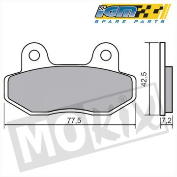 BRAKE PADS IGM (GRAND RETRO NSR/MBX/KYMCO/SPF3)