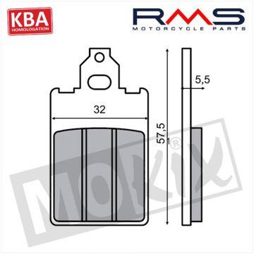 BRAKE PADS RMS (MALAGUTI F15/F12/PEUGEOT BUXY) KBA