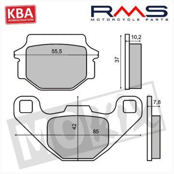 BRAKE PADS RMS (MALAGUTI F10/PEUGEOT SQUAB/SV) KBA