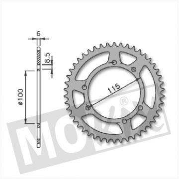 5536 Sprocket rearwheel GILERA GSM 36th (415) 100mm 6holes new