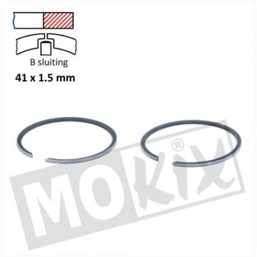 PISTONRINGSET MORINI/SUZUKI 41.00 x 1.5mm STD