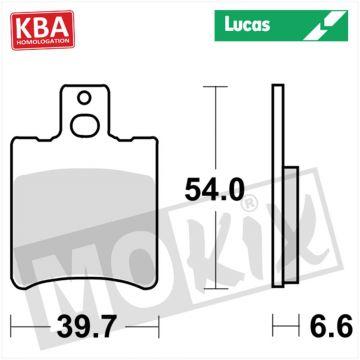 BRAKEPADS LUCAS STD APRILIA/MBK/MALAGUTI KBA