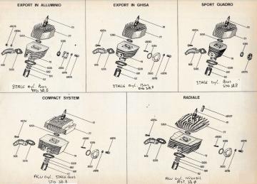 Motori Minarelli P4 - P6 Cylinder assembly