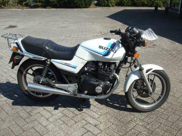 Motorbike as new Suzuki GS450E from 1989