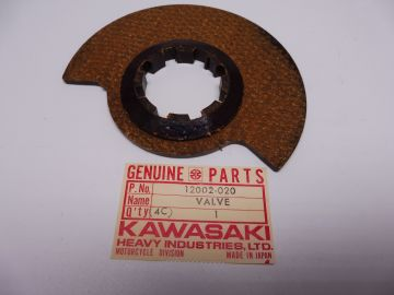 12002-020 Valve rotary disc(inlet carb.) Kaw.' 66 up NEW