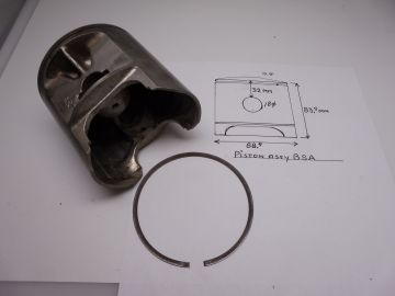 Piston assy BSA 88.5mm in perfect conditions with ring