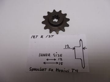 23.2558.12 Sprocket front 12T Franco Morini T4 moped >>New