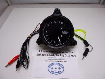 Tachometer Scitsu 1 cylinder 2 stroke 0-12.000