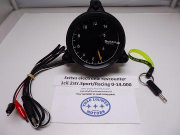 Tachometer Scitsu 1 cylinder 2 stroke Kreidler/Minarelli 0-14.000