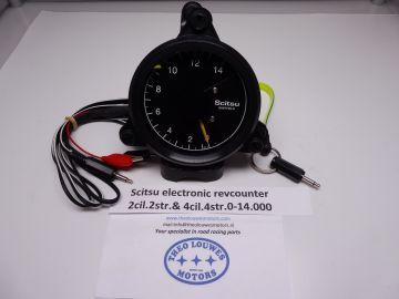 TachometerScitsu elctr.2cylinder2 str. & 4cylinder4 str.0-14000