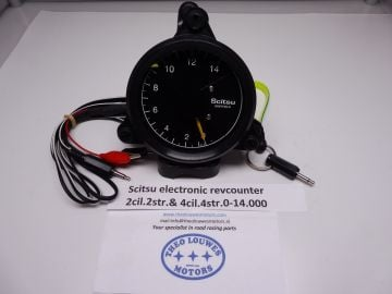 Tachometer,Scitsu elctr.2cil.2 str. & 4cil.4 str.0-14000