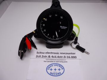 Tachometer,Scitsu electronic Yam.2cil.two & 4cil.4 stroke 0-14.000 new