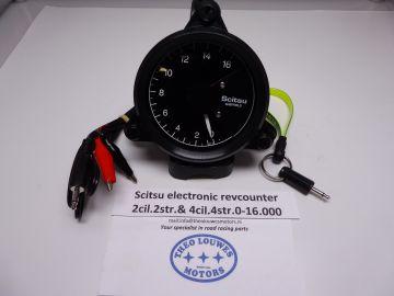 Tachometer Scitsu Yamaha 2-4 cylinder 2 stroke  0-14.000