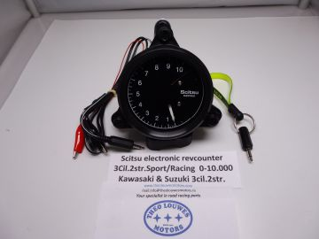 Tachometer Scitsu electronic 3 cylinder 2 stroke 0-12.000