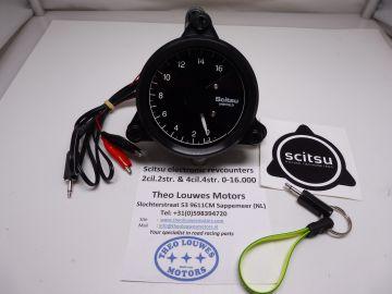 Tachometer Scitsu 2 cylinder 2-4 stroke 0-16.000