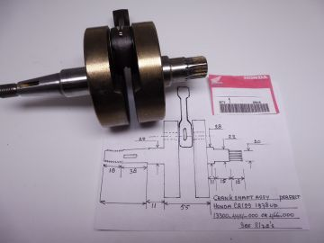 Crankshaft assy CR125 1978 till...... see picture