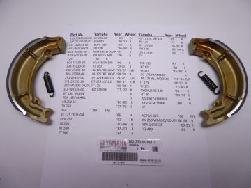 183-25330-00-01 Shoes drumbrake front/rear Yamaha models