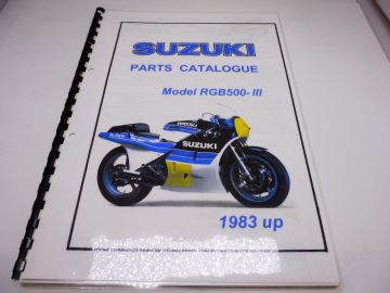 Partsbook RGB500 racing 1983 up completepart numbers and pictures