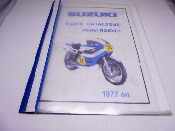 Partsbook Suzuki RG500-1 racing 1977