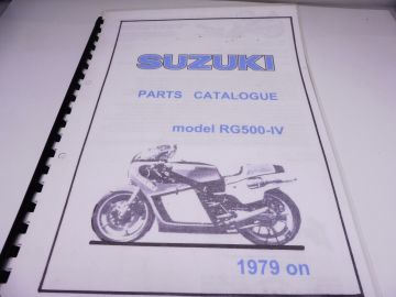 Partsbook Suzuki RG500-4 1980 racing