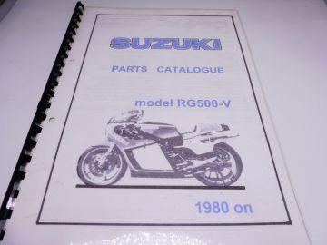 Partsbook Suzuki RG500-5 1981 racing
