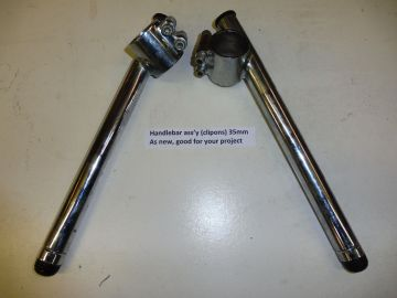Handlebar assembly(clipons)35mm for your project chrome or as