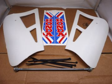 Koeling/spoiler ass'y Honda MT50 / MT80 colour white >NEW