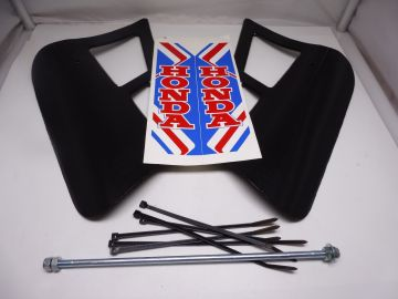 Cooling/spoiler ass'y Honda MT50 / MT80 moped colour black >NEW