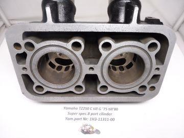 1H3-11311-00 Cilinder special 8 port 54mm racing Yamaha TZ250C till G >as new