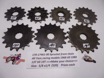 170-17461-00 Sprocket front chain road racing 1968 - 1980 13T till 19T