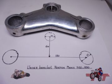 Under bracket frontfork Norton Manx 350/500 as