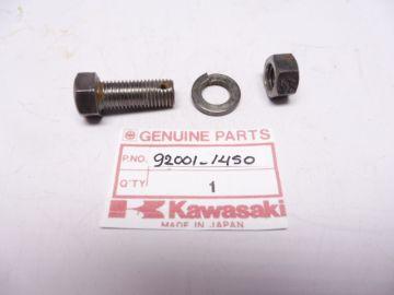 92001-1450 Bolt 10 x 25 brake rear torque link KX80