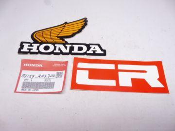 87127-KA3-000 Emblem wing L.H. fueltank CR125/250/450/480 motocross