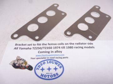 Bracket set for fitt the Femsa coils to the side of Radiator Yam.racing bikes