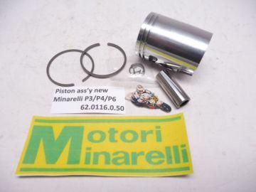 62.0116.0.50 Piston ass'y new 39.50mm Minarelli P3-P4-P6