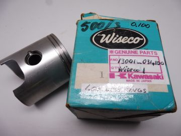 13001-31+1.00 Piston,Wiseco 61mm less rings Kaw.KH500-3cil.new