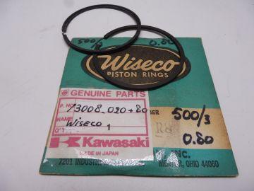 13008-020 80 Ringset piston Wiseco 4e over Kaw.KH500/3cil new 1969 till 1975