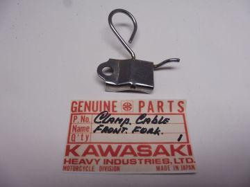 Clamp,cable frontfork Kawasaki Motobike (model??) new No:1